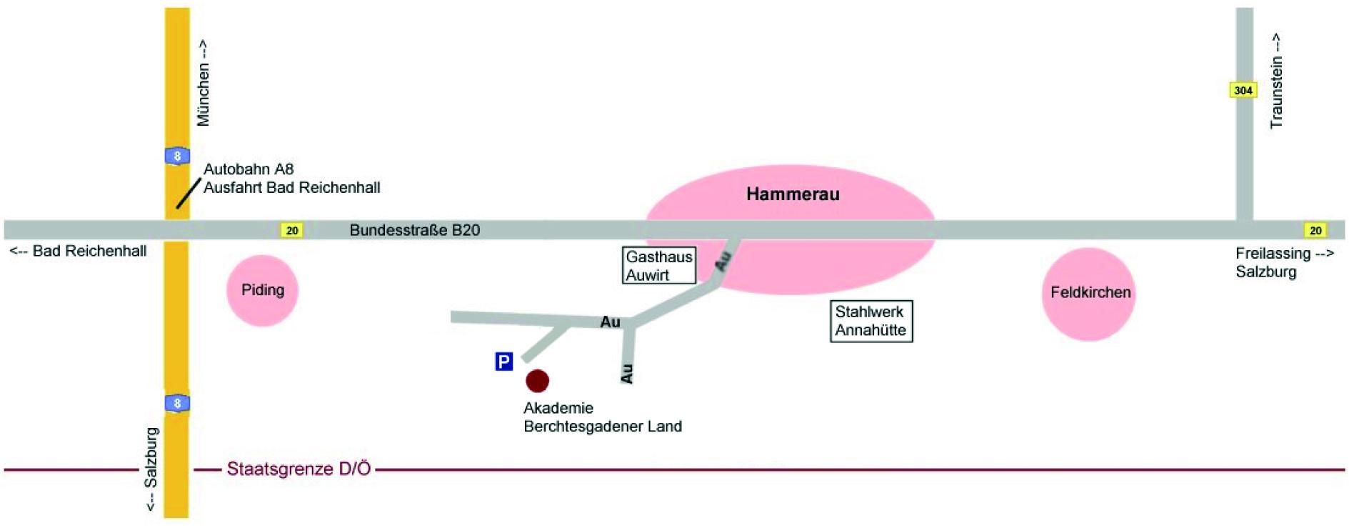 Anfahrt_Karte_Akademie-BGL-Berchtesgadener-Land